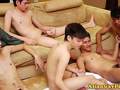 Well-pleased asian twink array..
