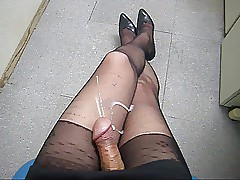 cum essentially pantyhose..