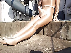 ablaze with pantyhose package..