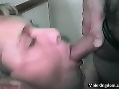 Sex-crazed kinky is sucking a..